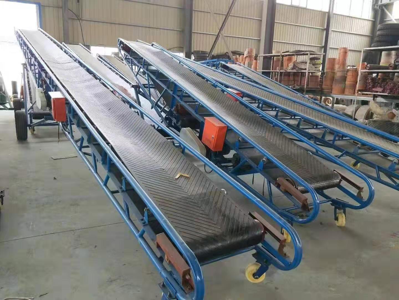 皮带输送机技术参数 货物自动装卸传送机 大倾角防滑带式上料机