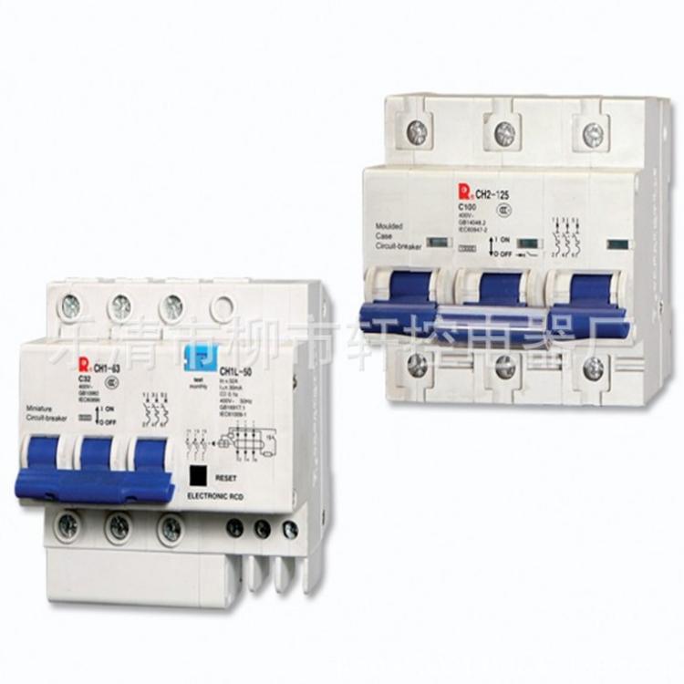 供应常熟开关厂CH2L-63C 2P 1-63A漏电断路器