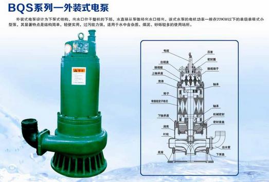 BQS(BQW)隔爆型潜水排沙电泵