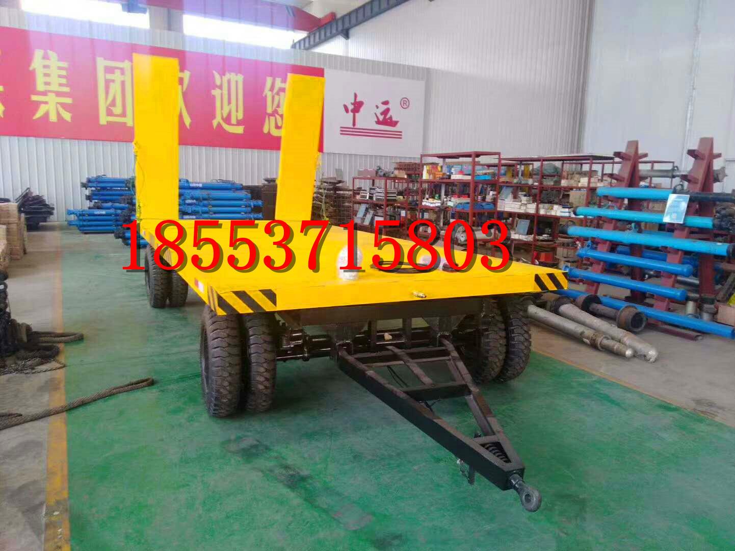 中运非标定制5T平板拖车  平板车  拖车  挂车 厂家直销