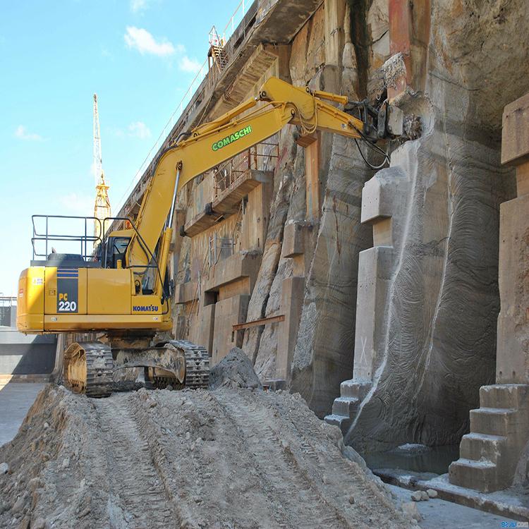 挖掘机改装铣刨头 岩土专用横向铣挖机 岩石开沟机