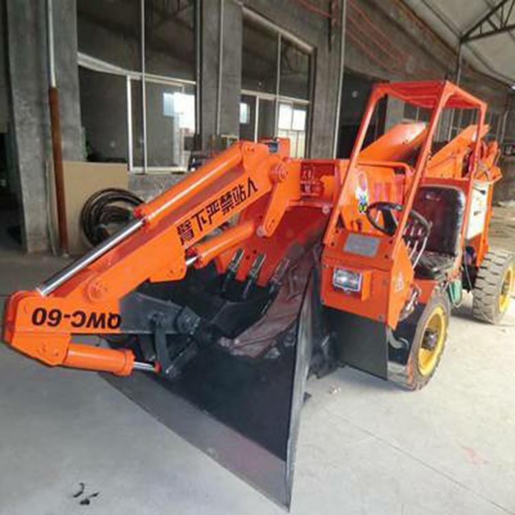 矿用扒渣机行业标杆企业,菏矿扒渣机可根据需求定制,轮胎式扒渣机