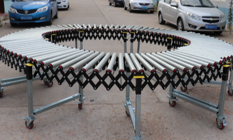 伸缩滚筒输送机无动力伸缩式输送线厂家直供