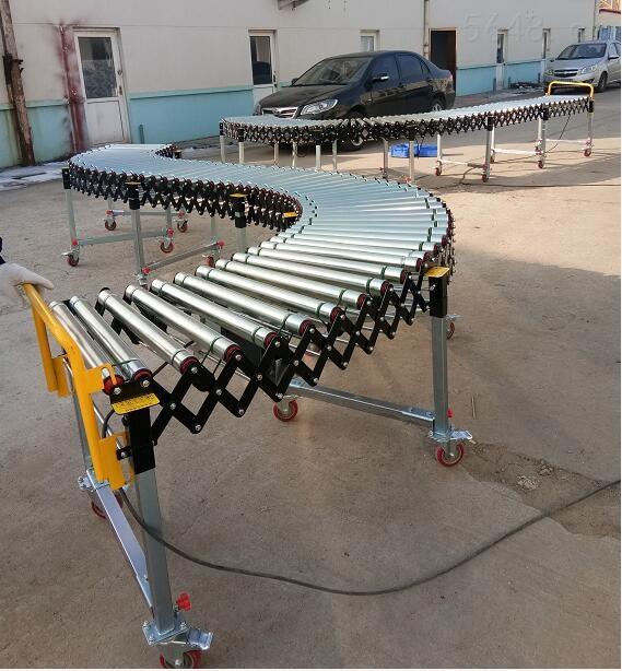 可折叠式动力伸缩滚筒输送机生产商直供