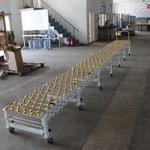 福来轮传送带带脚轮可伸缩输送线生产厂家直供