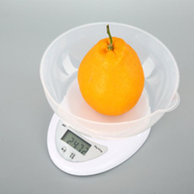 厨房秤B05高精度电子秤0.1g1kg5kg烘培秤家用精准食物称外贸内销