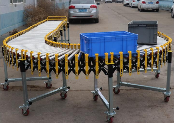 UNID-BWDLSSJ001 带挡边的无动力伸缩滚筒输送机厂家直供