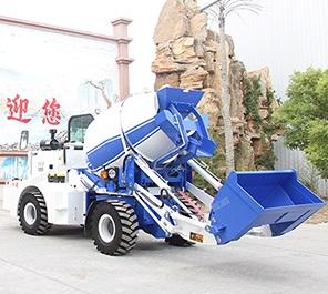 小型混凝土车 水泥自动上料搅拌车水泥搅拌