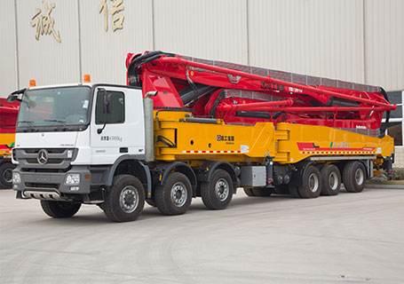 混凝土输送泵车应用范围