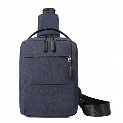 跨境新款男士涤纶胸包休闲斜挎包单肩包胸前小包定制批发一件代发
