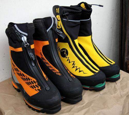皮质高山靴