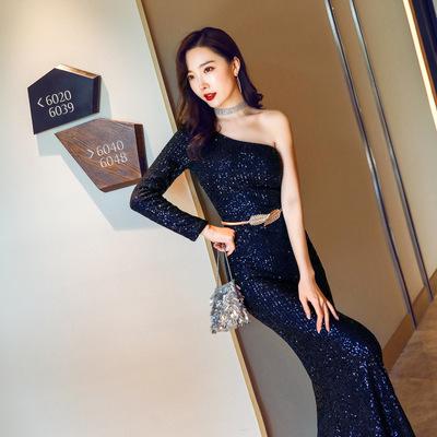 礼服女仙气梦幻名媛聚会派对晚礼服性感长款显瘦敬酒服新娘