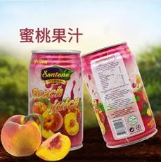 浓缩水蜜桃果汁饮料罐装310ml*24整箱批发夏季饮品厂家直销批发
