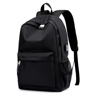 外贸货源双肩包男休闲USB男士背包透气耐磨电脑包旅行包批发代发