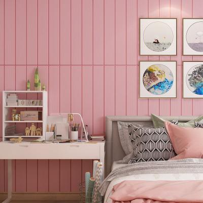3d立体墙贴细条防水加厚自粘墙纸客厅卧室商用场所自粘壁纸贴