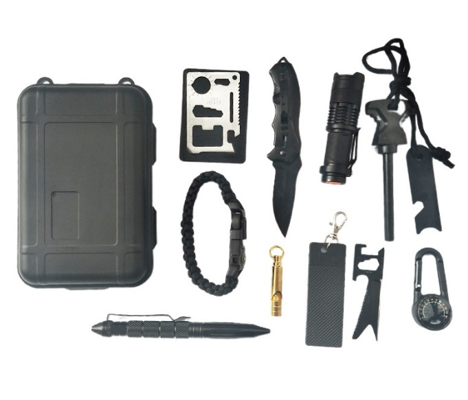 专业户外用品厂家直销可定制 荒野丛林探险远足遇险求生工具盒