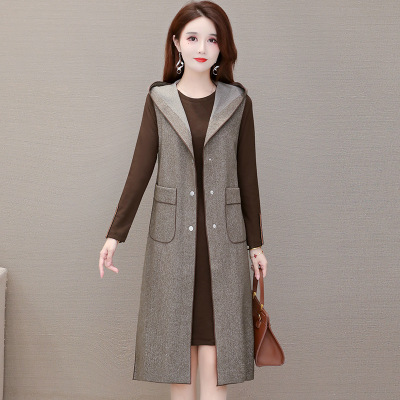 女装秋装2020新款韩版套装女时尚气质流行连衣裙两件套女一件代发