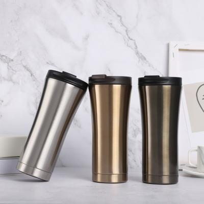 304不锈钢保温杯便携骑行车载水杯创意咖啡杯礼品杯一件代发