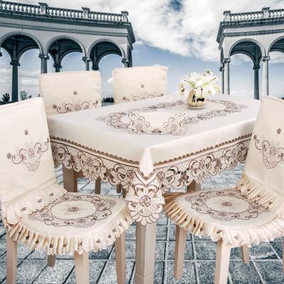厂家直销绣花餐桌台布 田园风家用台布布艺 绣花防尘餐桌茶几桌布