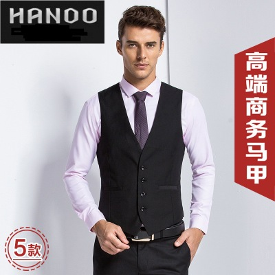 SG2000款黑色休闲时尚修身型韩版商务男士男式西装马甲男马夹背心
