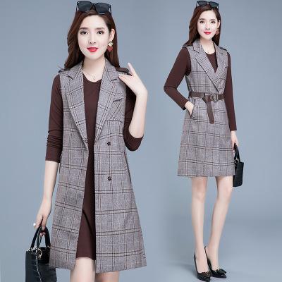 2020秋冬新款套装女韩版休闲时尚气质洋气中年女装裙装两件套批发