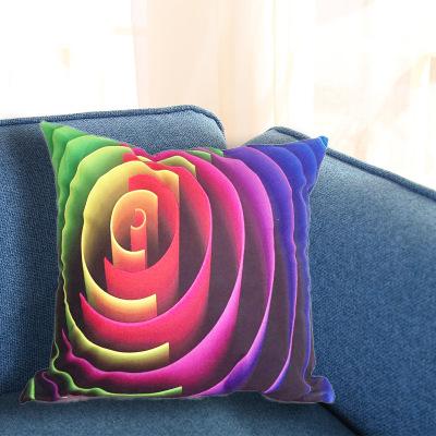 热卖绒布抱枕套毛绒枕套创意家居沙发3D靠垫套定制LOGO厂家批发