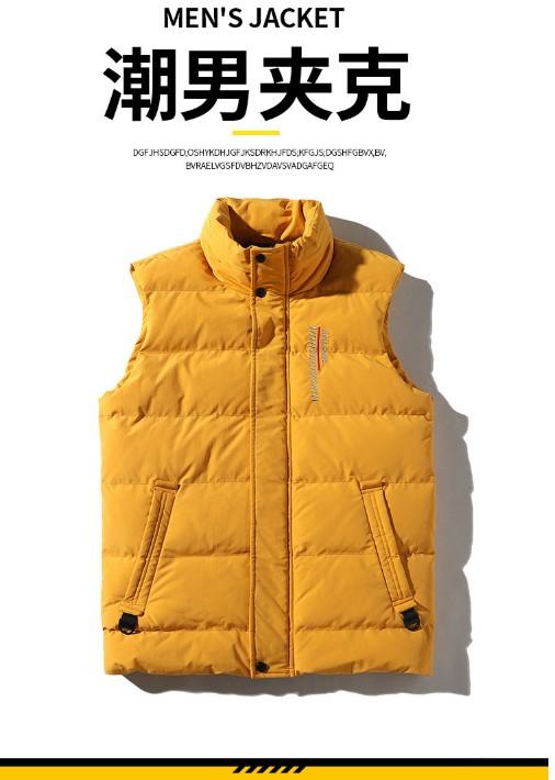 潮流新款立领无袖外套男加厚保暖马甲棉衣男装