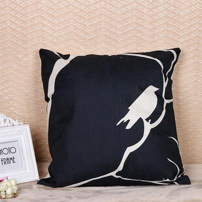 夏季欧式家居沙发抱枕套时尚爆款亚麻抱枕枕套靠垫套定制一件代发