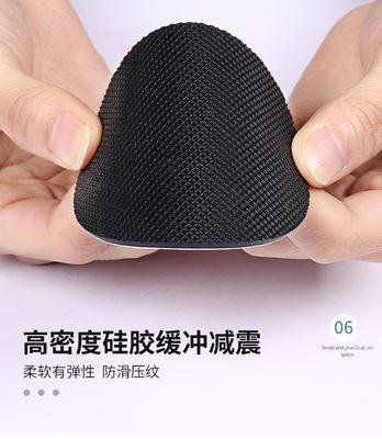 硅胶脚垫 黑色网格硅胶垫片 耐磨防滑桌椅垫 自粘硅胶垫圈
