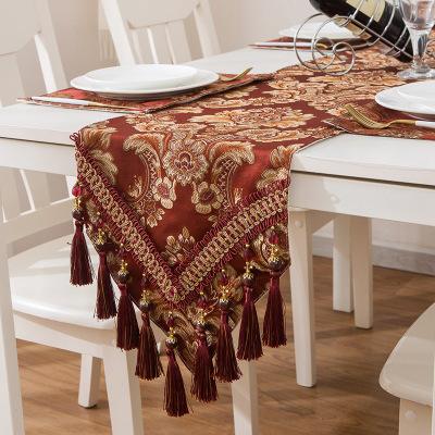 新款欧式古典家用餐桌布艺 茶几餐桌长方形桌布 餐桌茶几防滑桌巾