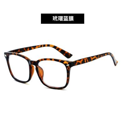 防蓝光眼镜8082 女士平光镜蓝光电脑护目镜复古眼镜框女方形镜架