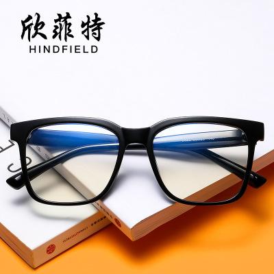 新款潮流方形平光镜防蓝光眼镜 时尚大框米钉平光眼镜可配近视