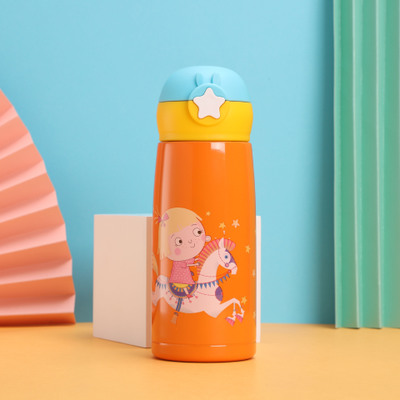 儿童随身杯316不锈钢保温杯户外便携水杯学生卡通杯一件代发