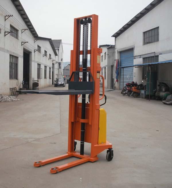 热销1.2吨升高3米徒步式中力电动堆高车步行式堆垛车电动堆高叉车