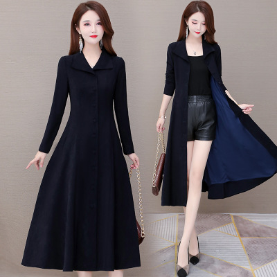 长款风衣女秋季2020新款修身大衣女流行气质时尚洋气韩版外套百搭