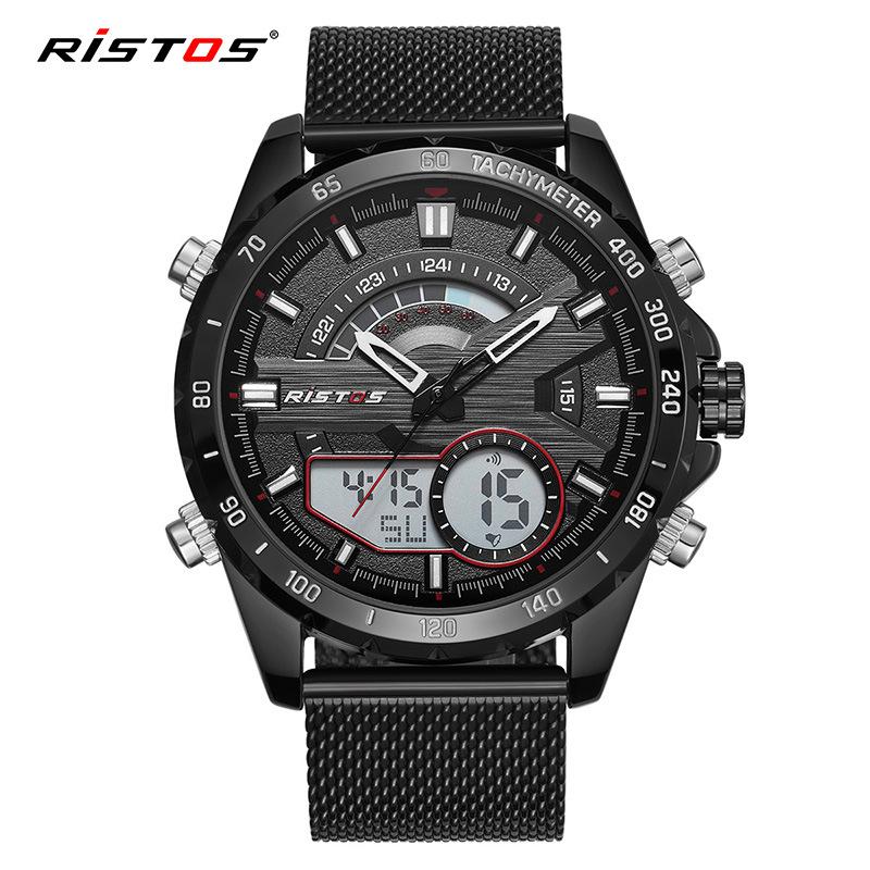 RISTOS/丽梭仕 防水夜光双显多功能运动手表 9361