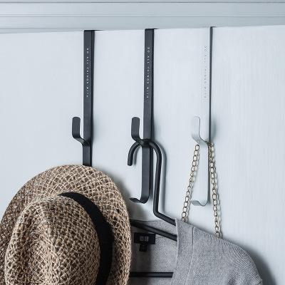 无痕挂钩铁艺可拆卸门背挂架衣帽置物架免钉门挂创意门后挂