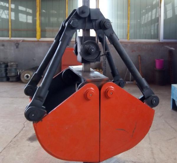 新款液压贝壳抓斗 双开贝壳斗 贝壳型抓沙斗挖掘机配件