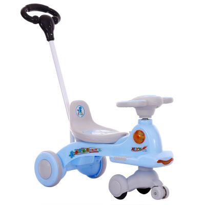儿童扭扭车1-3岁滑行车 婴幼儿手推车静音闪光轮