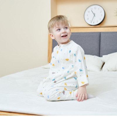 厂家直销 儿童分腿睡袋纯棉夏季宝宝防踢被春秋纱布婴儿睡袋