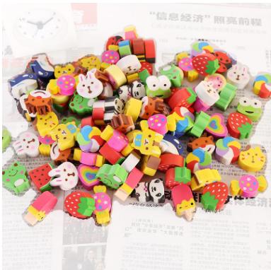 50个价可爱创意橡皮擦儿童励志奖品卡通笑脸圆形橡皮可定制文具