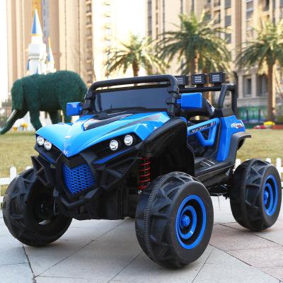 儿童电动车可坐人 带风扇 宝宝四驱汽车四轮带遥控超大号越野汽车