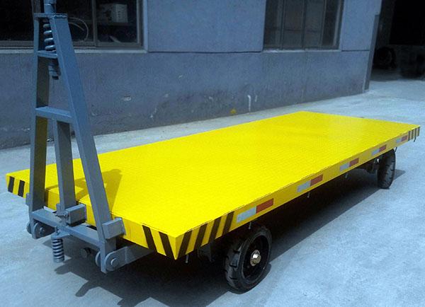 移动牵引平板拖车可定制货物托盘运输平板车 工厂车间物流转运车