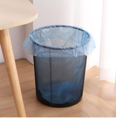 金属网状圆形垃圾筒铁艺垃圾篓厨房收纳桶创意家用办公无盖垃圾筒