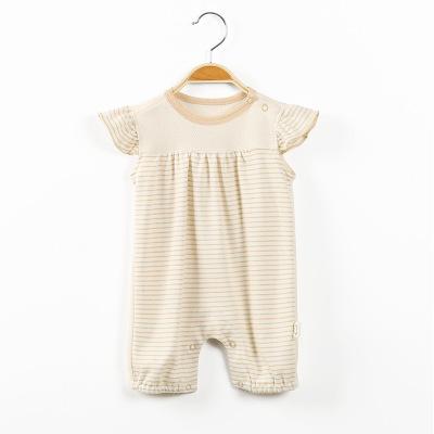 厂家直销婴儿连体衣夏季薄款男女宝宝爬服哈衣新生儿衣服短袖外出