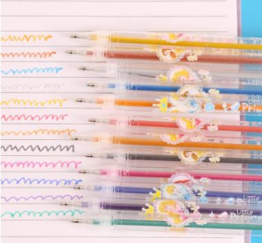 36色闪光笔彩色迷你荧光笔套装卡通塑料创意文具用品金葱粉带香味