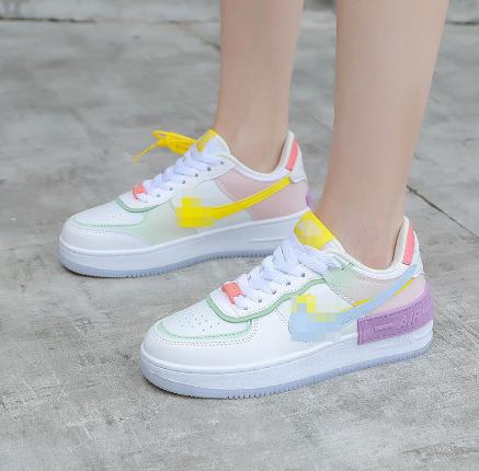 马卡龙a*J空军一号板鞋韩版学生跑步鞋一件代发女低帮糖果色板鞋