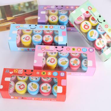 韩国文具套装卡通水果印章幼儿园益智学习用品学生奖品儿童小礼品