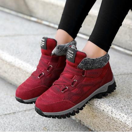 跨境新款大码女士棉鞋户外运动鞋保暖加绒休闲中简雪地靴女鞋代发