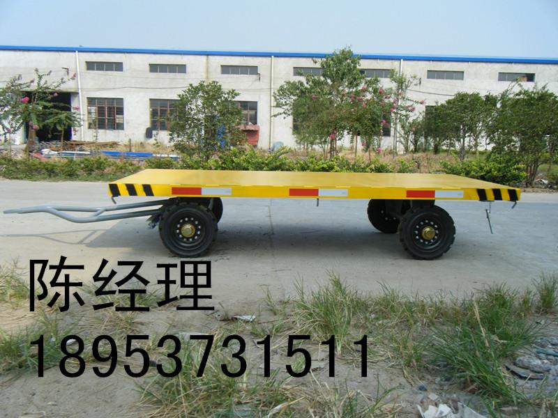 平板拖车图片 平板拖车报价 5T双轴拖车 15T平板拖车 15吨高低板拖车